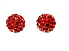 Red Color Crystal Shamballa Beads Pave Disco balls n Spacer Jewelry Supplies