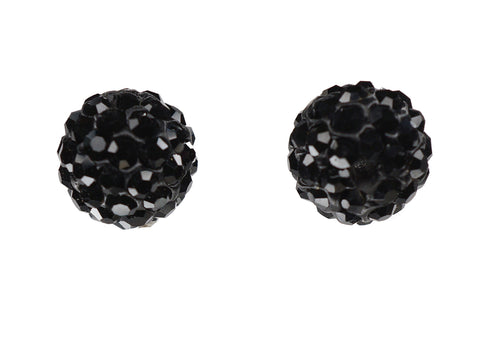 Black Jet Color Crystal Shamballa Beads Pave Disco balls n Spacer Jewelry Supplies