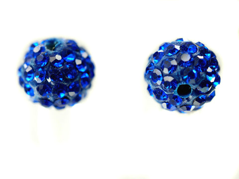 Sapphire Color Crystal Shamballa Beads Pave Disco balls n Spacer Jewelry Supplies