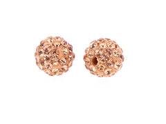 Light Salmon Color Crystal Shamballa Beads Pave Disco balls n Spacer Jewelry Supplies