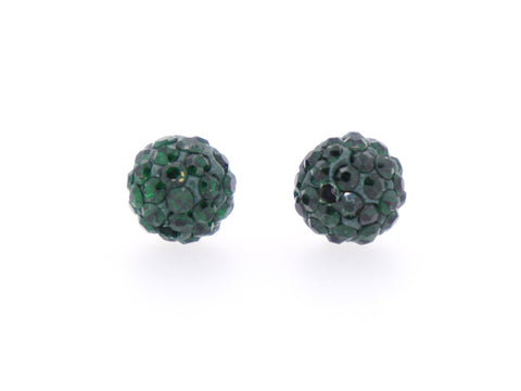 Emerald Color Crystal Shamballa Beads Pave Disco balls n Spacer Jewelry Supplies