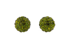 Green Color Crystal Shamballa Beads Pave Disco balls n Spacer Jewelry Supplies