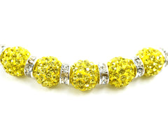 Light Topaz Color Crystal Shamballa Beads Pave Disco balls n Spacer Jewelry Supplies