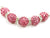 Rose Color Crystal Shamballa Beads Pave Disco balls n Spacer Jewelry Supplies