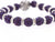 Purple Color Crystal Shamballa Beads Pave Disco balls n Spacer Jewelry Supplies