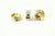 Spacer Bead 8mm Rondelle Gold Plated - AB Crystal, Pack of 12