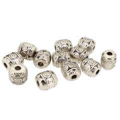 Rondelle Alloy Spacer Beads for Jewelry Bracelet Necklace Charm Making,  6mm, Antique Silver, Pack of 50