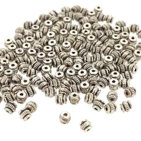 Alloy Beads, Cadmium Free & Nickel Free & Lead Free, Antique Silver, 5x5mm, Hole: 1.5mm