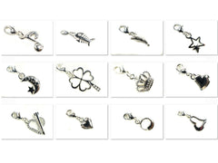 Silver Plated Bracelet Charms Pendants with lobster Clasp 13 Different Designs