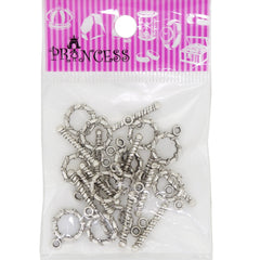 Alloy Bar & Ring Toggle Clasps, Donut, Antique Silver Color, Size: Toggle: about 11.5mm wide, 15.5mm long, 2mm thick, hole: 2mm; Tbars: 7.5mm wide, 23mm long, 2.5mm thick, hole: 2mm
