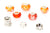 Color Set Mix European Bead Charm Crystal Fit Pandora Pack of 8 (Orange)
