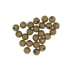 Antique Bronze Stardust Brass beads, 8mm Round, for Bracelet Necklace DIY Jewelry Making