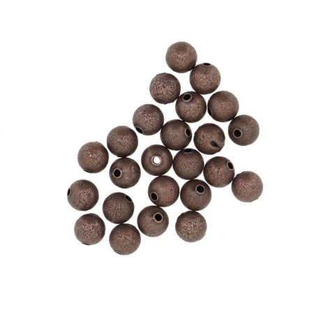 Red Copper Stardust Brass beads, 8mm Round, for Bracelet Necklace DIY Jewelry Making