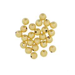 Gold Stardust Brass beads, 8mm Round, for Bracelet Necklace DIY Jewelry Making