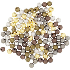 Mix Color Stardust Brass beads, 8mm Round, for Bracelet Necklace DIY Jewelry Making
