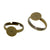 Antique Bronze Metal Color Brass Ring Shanks Pad Jewelry Findings Adjustable Ring Pack of 50