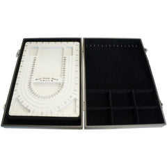 Bead Design Board Case Box with Bracelet Necklace Holder and 6 Compartments
