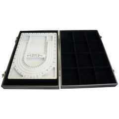 Black Bead Design Board Case Box w 12 Compartments for Beads n Jewelry Findings