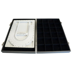 Black Bead Design Board Case Box w 24 Compartments for Beads n Jewelry Findings