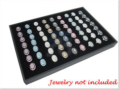 Black Velvet Liner Protable Jewelry Ring Display Case / Tray
