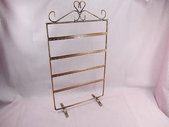 Copper Tone Jewelry Display Stand for Stud Dangle Hoop Earrings, 4 Layer