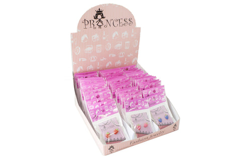 Wholesale Lot of 48 Packs Strawberry Crystal Stud Earrings One Box set