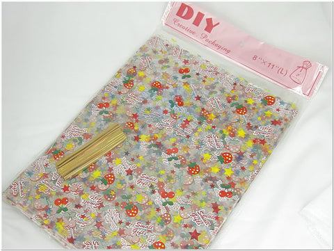 "Wholesale Lot of 48 Clear Cellophane Gift Bags for Candy Buffet (Large - 8""x11"")"