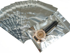 Pack of 95 Silver Ziplock Retail Packaging Bags 10x17.5cm
