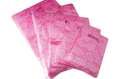 Wholesale Lot of 450 Pink Butterfly Retail Shopping Plastic Bags, 5 Sizes