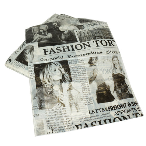 Newspaper Merchandise Shopping Bags, Retail Shop Flea Market 25x35cm Pack of 90