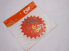 Sale % Off Advertising POP Paper Cards,14cm, Pack of 10 Pcs