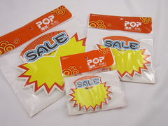 SALE Advertising POP Paper Cards, Pack of 30 Pcs, 3 Sizes