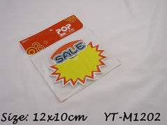 Sale Advertising POP Paper Cards, Pack of 10 Pcs, 12x10cm