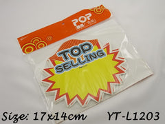 Top Selling Advertising POP Paper Cards, Pack of 10 Pcs, 17x14cm