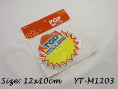Top Selling Advertising POP Paper Cards, Pack of 10 Pcs, 12x10cm