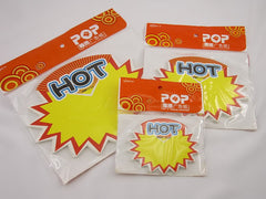 HOT Advertising POP Paper Cards, Pack of 30 Pcs, 3 Sizes
