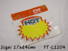 HOT Advertising POP Paper Cards, Pack of 10 Pcs, 17x14cm