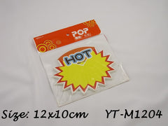 HOT Advertising POP Paper Cards, Pack of 10 Pcs, 12x10cm
