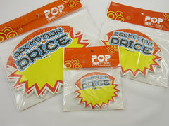 Promotion Price Advertising POP Paper Cards, Pack of 30 Pcs, 3 Sizes