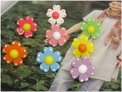 Color Flower Summer Costume Rings (8 colors available)