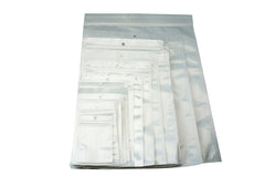 ZipLock White Clear Plastic Packaging Retail Hanging Bags, Pack of 95