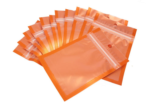 Pack of 95 Orange Color Ziplock Item Packaging Gift Bags 9.5x17cm