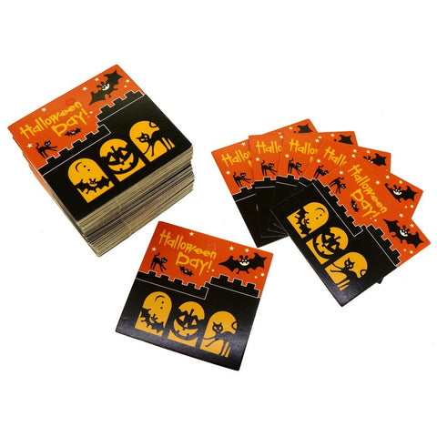 Halloween Design Paper Gift / Price Tags with Color Twine for Gift Wrapping Packaging, Set of 95 (A)