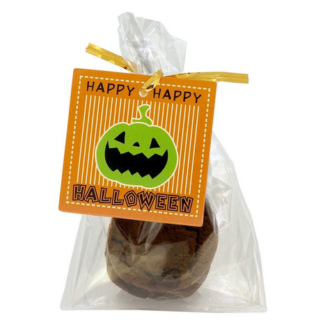 Halloween Design Paper Gift / Price Tags with Flat Cellophane Bags and Golden Twist Ties, Set of 95 (E)