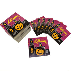 Halloween Design Paper Gift / Price Tags with Color Twine for Gift Wrapping Packaging, Set of 95 (F)