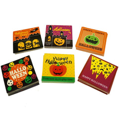 Halloween Mix Design Paper Gift / Price Tags with Color Twine for Gift Wrapping Packaging, Set of 95