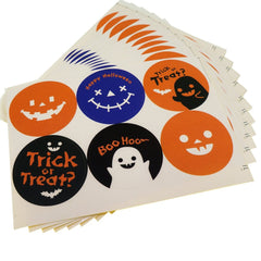 Halloween Round Sticker for Party Favors Gift Wrapping decoration , Pack of 60