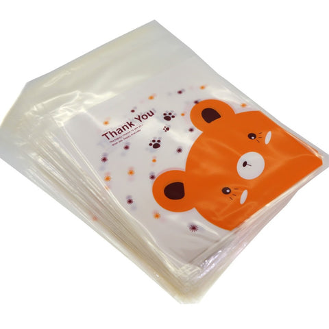 Cute Bear with White Background Cookie Candy Gift Wrapping Bags, Pack of 95