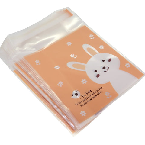 Rabbit Cookie Candy Party Gift Wrapping Bags Self-Adhesive, Pack of 95
