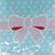 Pink Bowknot with Blue Background Cookie Candy Bags Self-Adhesive, Pack of 95
